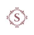 monogram logo x letter with vintage floral vector image