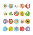 Music Colored Icons 3 vector image