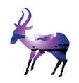 night landscape with antelopes vector image vector image