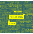 PHILOSOPHY vector image vector image