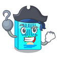 pirate travel guide book the shape mascot vector image
