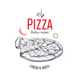 pizza design template 1 vector image vector image