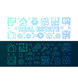 real estate two creative linear horizontal vector image vector image
