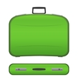Realistic suitcase on white background vector image vector image