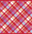 red pixel plaid seamless fabric texture vector image vector image