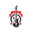 rock music festival logo design element with vector image vector image