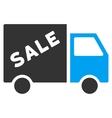 Sale Van Flat Icon vector image vector image
