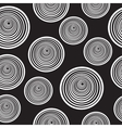 Seamless pattern of spirals black and white vector image vector image