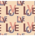 seamless pattern with love vector image vector image