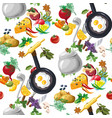 Seamless pattern with vegetables hand drawn