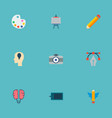 set of creative icons flat style symbols with vector image