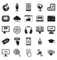 site building icons set simple style vector image vector image
