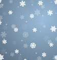 Snowflakes christmas background vector image vector image