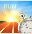 Stopwatch sport poster vector image