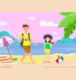 summer vacation on tropical island vector image vector image