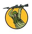 symbol bayonet fighting soldiers at war vector image vector image
