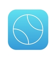 Tennis ball line icon vector image vector image