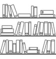 tile pattern with books on the shelf on white vector image vector image