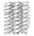 twined work basket weave the most intricate and vector image vector image