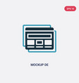 two color mockup de icon from web hosting concept vector image vector image