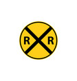 usa traffic road sign railroad crossing ahead vector image