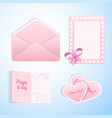 valentines love set vector image vector image