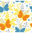 Vibrant Blue and Orange Butterflies vector image