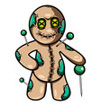 voodoo esport mascot logo design vector image