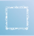 white winter ice snowflakes square frame eps10 vector image vector image