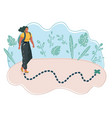 woman on map vector image vector image