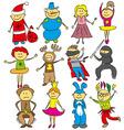 kids at Christmas vector image