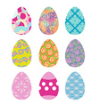Easter eggs set Easter eggs on white background vector image
