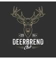 Deer head Design Element in Vintage Style vector image