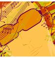 music on headphones vector image