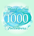 1000 followers hearts blue vector image vector image