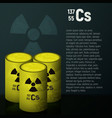 a cask of toxic radioactive waste container vector image vector image