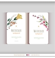 Abstract watercolor cards Watercolor flowers vector image