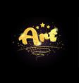 art star golden color word text logo icon vector image vector image
