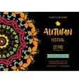 autumn festival background invitation banner vector image