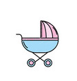 baby stroller tool to baby relax vector image vector image