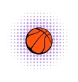 Basketball ball icon comics style vector image vector image