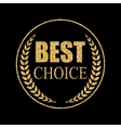 Best Choice Art Golden Medal Icon Sign vector image vector image