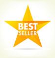 bestseller awards star logo vector image vector image