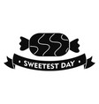 bonbon candy day logo simple style vector image vector image