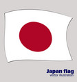 bright background with flag of japan happy japan vector image