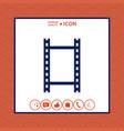 camera roll photographic film camera film icon vector image vector image