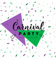 carnival concept banner with mask stars vector image vector image