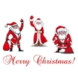 Cartoon Santa Clauses vector image vector image