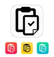 Check file with clipboard icon vector image vector image