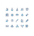 chemistry lab sign color thin line icon set vector image